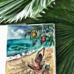 Новый год на Бали: акварельный интенсив